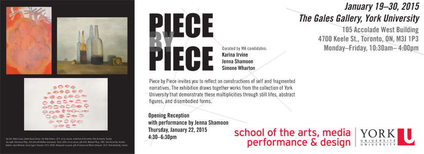 information about the Piece by Piece presentation